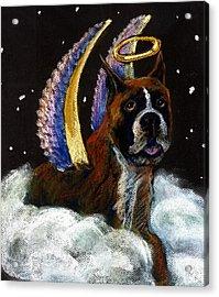 Boxer Angel Acrylic Print by Darlene Grubbs