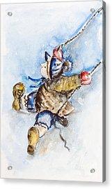 Boy On Swing Acrylic Print by Irina Gromovaja