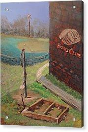 Boys Club Series-baseball Tetherball Box Hockey Acrylic Print by Dale Smith