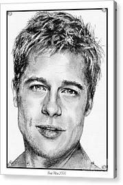 Brad Pitt In 2006 Acrylic Print by J McCombie