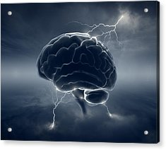 Brainstorm Acrylic Print by Johan Swanepoel