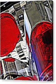Brake Light 35 Acrylic Print by Sarah Loft