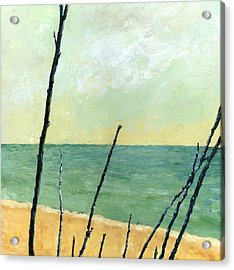 Branches On The Beach - Oil Acrylic Print by Michelle Calkins