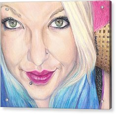 Brandi-marie Acrylic Print by Shana Rowe Jackson