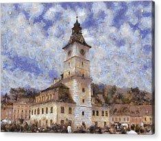Brasov City Hall Acrylic Print by Jeff Kolker