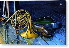 Brass And Strings Acrylic Print by Hanne Lore Koehler