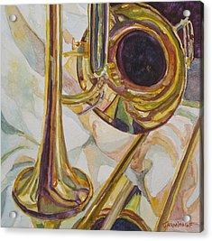 Brass At Rest Acrylic Print by Jenny Armitage