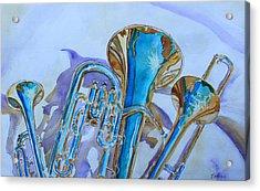 Brass Candy Trio Acrylic Print by Jenny Armitage
