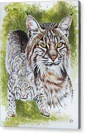 Brassy Acrylic Print by Barbara Keith