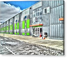 Brave New Elementary School Acrylic Print by MJ Olsen