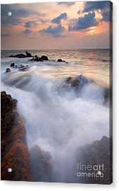Break In The Storm Acrylic Print by Mike  Dawson