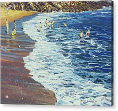 Breakers Acrylic Print by Martin Decent