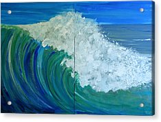 Breakers Acrylic Print by Pete Maier