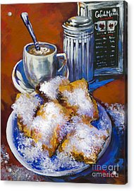 Breakfast At Cafe Du Monde Acrylic Print by Dianne Parks