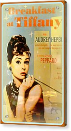 Breakfast At Tiffany Acrylic Print by The Creative Minds Art and Photography