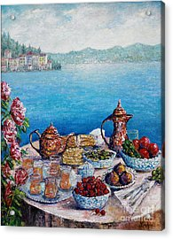 Breakfast In Istanbul Acrylic Print by Lou Ann Bagnall