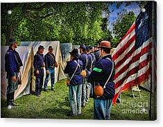 Breaking Camp - Civil War Acrylic Print by Lee Dos Santos