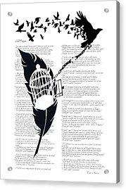 Breaking Free Acrylic Print by Sassan Filsoof
