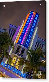 Breakwater Hotel Art Deco District Sobe Miami Acrylic Print by Ian Monk