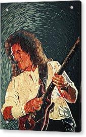 Brian May II Acrylic Print by Taylan Soyturk