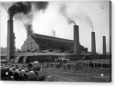 Brick And Lime Company Factory Acrylic Print by Underwood Archives