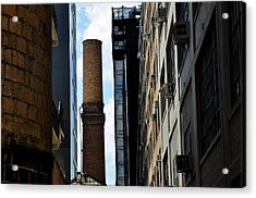 Brick Chimneys And Building New York City Acrylic Print by Diane Lent
