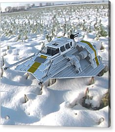 Brick Snowspeeder Ce Acrylic Print by John Hoagland