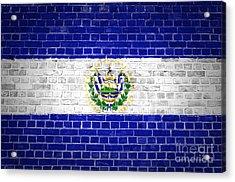 Brick Wall El Salvador Acrylic Print by Antony McAulay