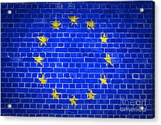 Brick Wall European Union Acrylic Print by Antony McAulay