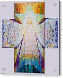 Bride Of Christ Save The Planet Acrylic Print by Anne Cameron Cutri