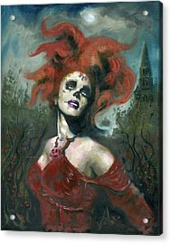 Bride Of The Dead Acrylic Print by Luis  Navarro