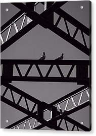 Bridge Abstract Acrylic Print by Bob Orsillo