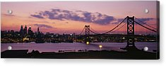Bridge Across A River, Ben Franklin Acrylic Print by Panoramic Images