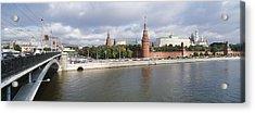 Bridge Across A River, Bolshoy Kamenny Acrylic Print by Panoramic Images