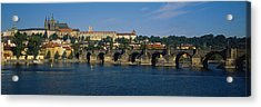 Bridge Across A River, Charles Bridge Acrylic Print by Panoramic Images