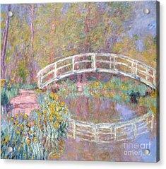 Bridge In Monet's Garden Acrylic Print by Claude Monet
