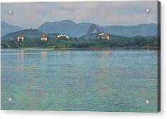 Bridge Of The Americas From Casco Viejo - Panama Acrylic Print by Julia Springer