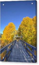 Bridge To Autumn Acrylic Print by Veikko Suikkanen