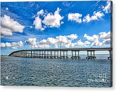Bridge To South Padre Acrylic Print by Tod and Cynthia Grubbs