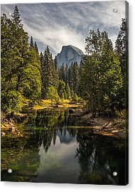 Bridge View Half Dome Acrylic Print by Peter Tellone