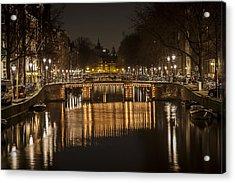 Bridges Of Amsterdam Acrylic Print by Shari Mattox