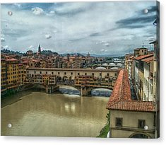 Bridges Of Florence Acrylic Print by C H Apperson