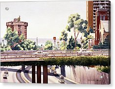 Bridges Over Rt 5 Downtown San Diego Acrylic Print by Mary Helmreich
