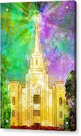 The Heavens Were Opened Acrylic Print by Greg Collins