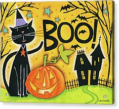 Bright Halloween II Acrylic Print by Anne Tavoletti