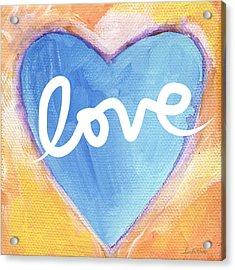 Bright Love Acrylic Print by Linda Woods