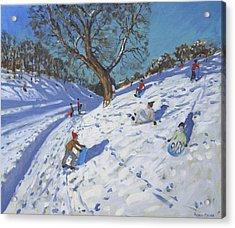 Bright Morning   Chatsworth Acrylic Print by Andrew Macara