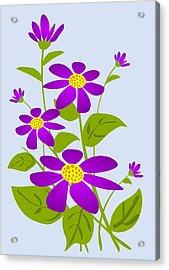 Bright Purple Acrylic Print by Anastasiya Malakhova