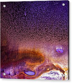 Bright Violet Abstract Art Serene Clouds By Kredart Acrylic Print by Serg Wiaderny