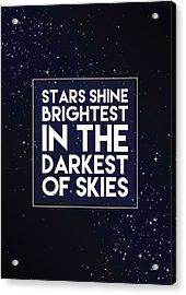 Brightest Stars Acrylic Print by Samuel Whitton
